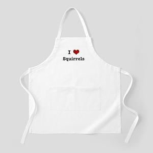 I love Squirrels BBQ Apron