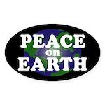 Peace on Earth (oval bumper sticker)