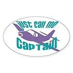 Original captain Oval Sticker