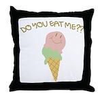 Do You Eat Me?? Throw Pillow
