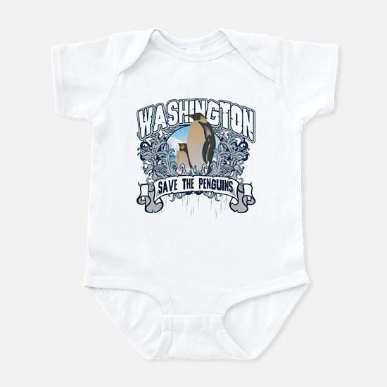 Save the Penguin Washington Infant Bodysuit
