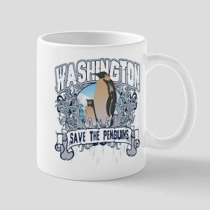 Save the Penguin Washington Mug