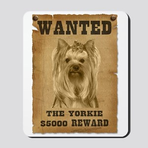 """Wanted"" Yorkie Mousepad"