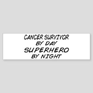 Cancer Survivor Superhero Bumper Sticker