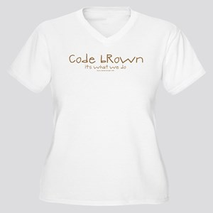 Code Brown Nurse Women's Plus Size V-Neck T-Shirt