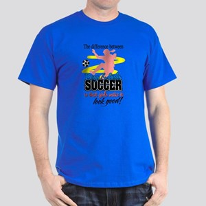 Girls Make Soccer Look Good Dark T-Shirt