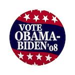 """Obama-Biden 2008 3.5"""" Button (100 pack)"""