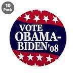 """Obama-Biden 2008 3.5"""" Button (10 pack)"""
