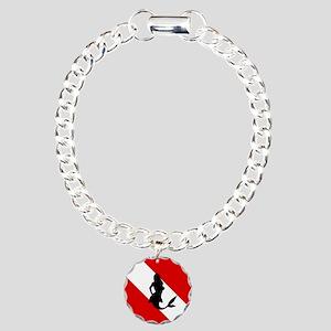 Diving Flag: Mermaid Charm Bracelet, One Charm