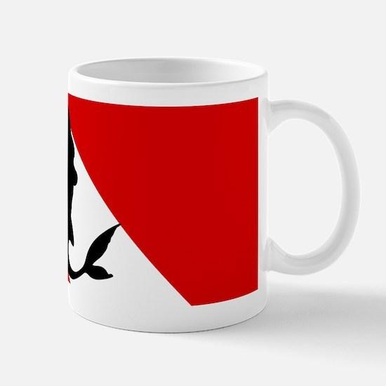 Diving Flag: Mermaid Mug