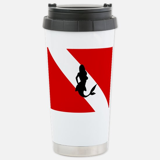 Diving Flag: Mermaid Stainless Steel Travel Mug