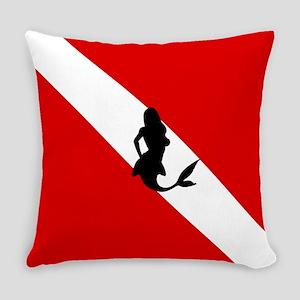 Diving Flag: Mermaid Everyday Pillow