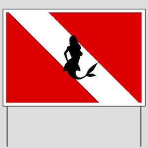 Diving Flag: Mermaid Yard Sign