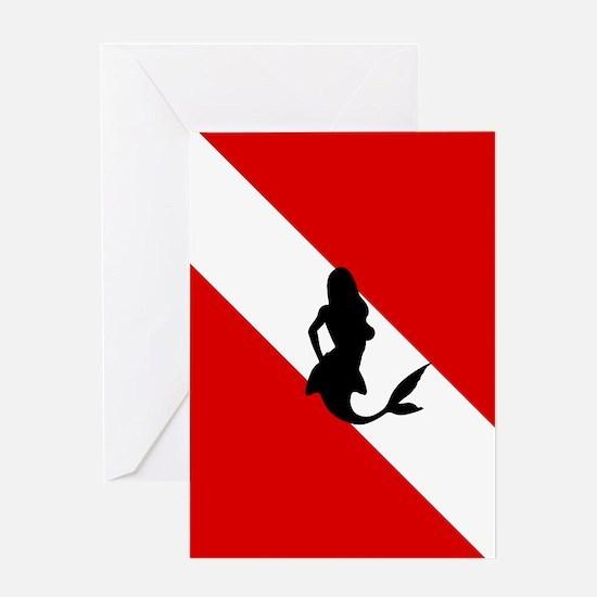 Diving Flag: Mermaid Greeting Card