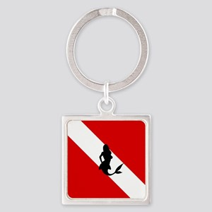 Diving Flag: Mermaid Square Keychain