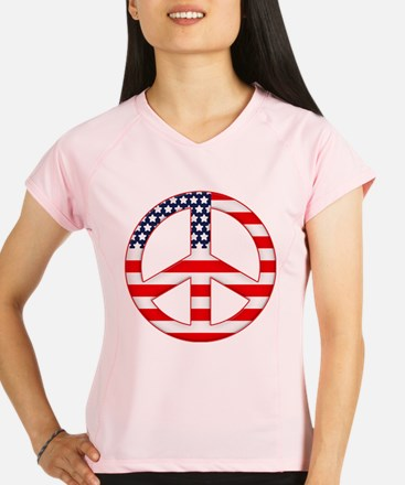 USA Flag, Red, White, and Blue Peace Sign Performa