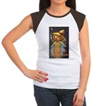 Halloween Scarecrow Women's Cap Sleeve T-Shirt