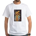 Halloween Scarecrow White T-Shirt