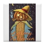 Halloween Scarecrow Tile Coaster