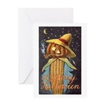 Halloween Scarecrow Greeting Card