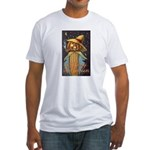 Halloween Scarecrow Fitted T-Shirt