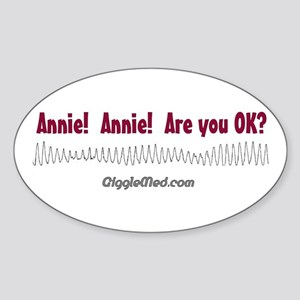Annie! Annie! Oval Sticker