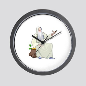 Male Witch Wall Clock