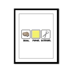 Rock Paper Scissors Framed Panel Print