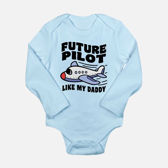 Future Pilot Like My D Long Sleeve Infant Bodysuit