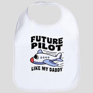 Future Pilot Like My Daddy Cotton Baby Bib