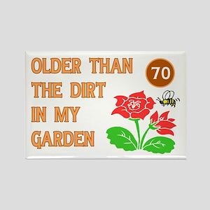 Gardener's 70th Birthday Rectangle Magnet