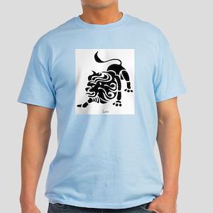 Leo Zodiac Astrology Tattoo Light T-Shirt