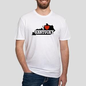 I Love Kentucky Fitted T-Shirt