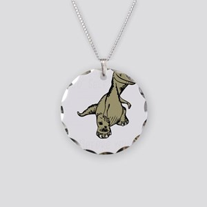 Dinosaur Check Yo Self Befor Necklace Circle Charm