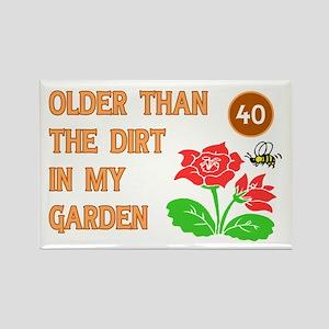 Gardener's 40th Birthday Rectangle Magnet