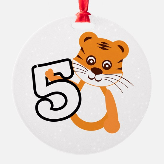 Tiger 5th Birthday Ornament