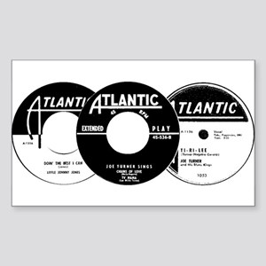 Atlantic R&B Montage Rectangle Sticker
