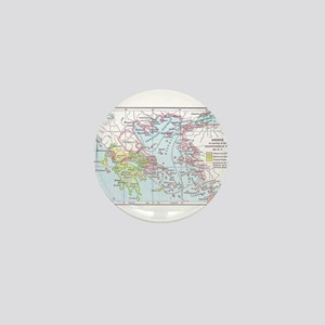 Map of Greece Mini Button