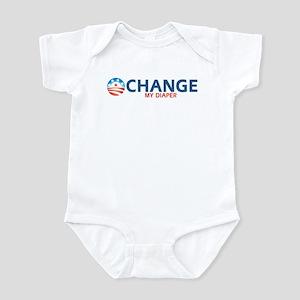 OBAMA - CHANGE MY DIAPER Infant Bodysuit