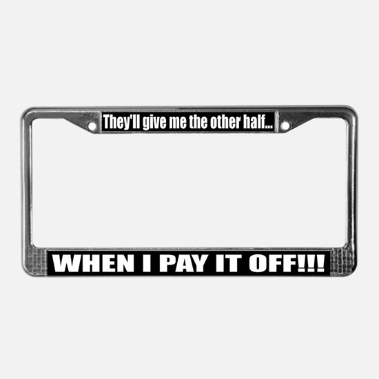 Cute Fuel prices License Plate Frame