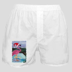 Santa Flamingo Boxer Shorts