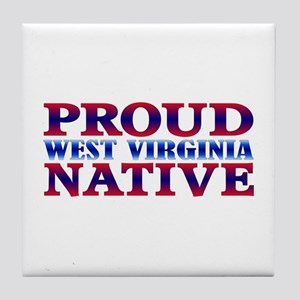 Proud West Virginia Native Tile Coaster