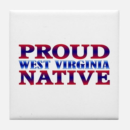 Proud West Virginia Native Tile Coaster