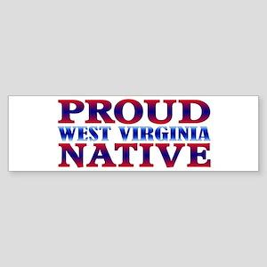 Proud West Virginia Native Bumper Sticker