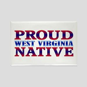Proud West Virginia Native Rectangle Magnet