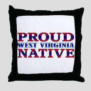 Proud West Virginia Native Throw Pillow
