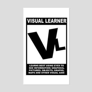 Visual Learner Rectangle Sticker