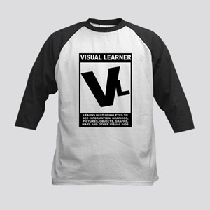Visual Learner Kids Baseball Jersey