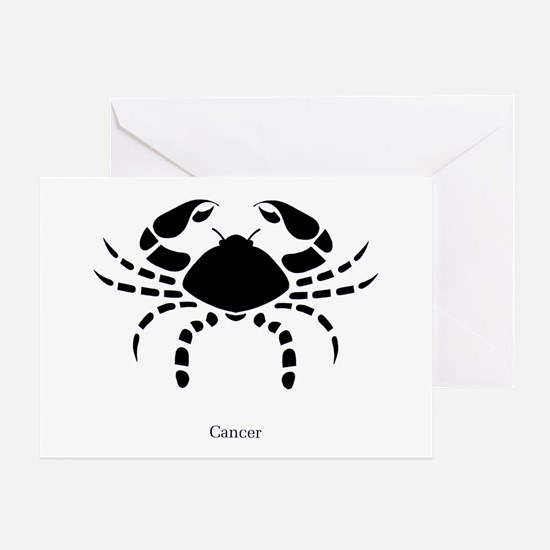 Cancer Zodiac Astrology Tattoo Greeting Card