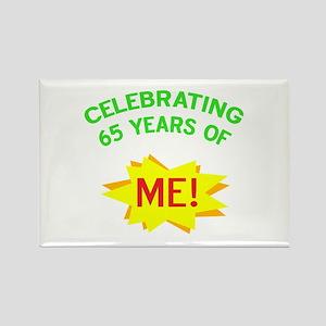 Celebrate My 65th Birthday Rectangle Magnet